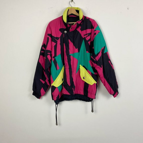 90s vintage ski jacket, retro ski jacket, snow jac