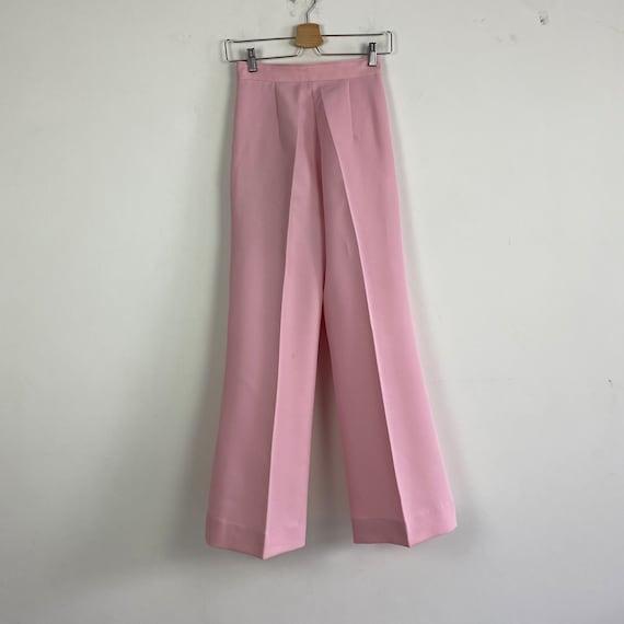 70s high waist pants, 1970s trousers, 70s wide le… - image 2