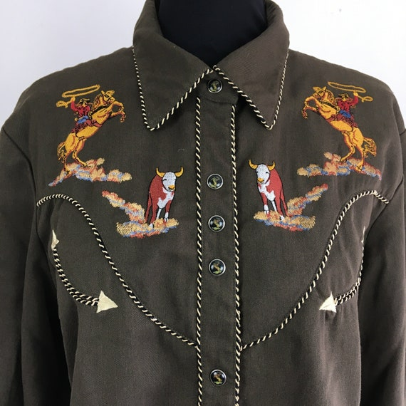 Vintage Scully western shirt, ranch shirt