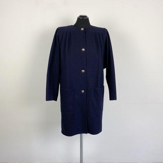 90s vintage Valentino blue coat, italian coat