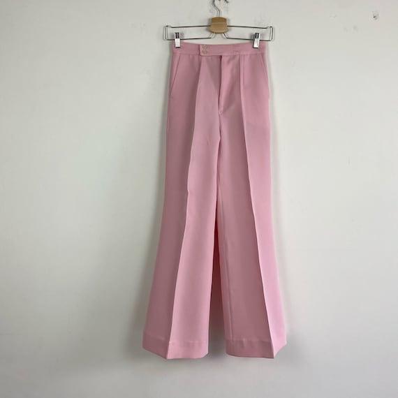 70s high waist pants, 1970s trousers, 70s wide le… - image 1