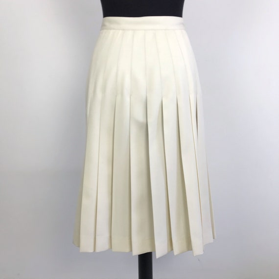 90s vintage Valentino pleated white skirt, wrap s… - image 2