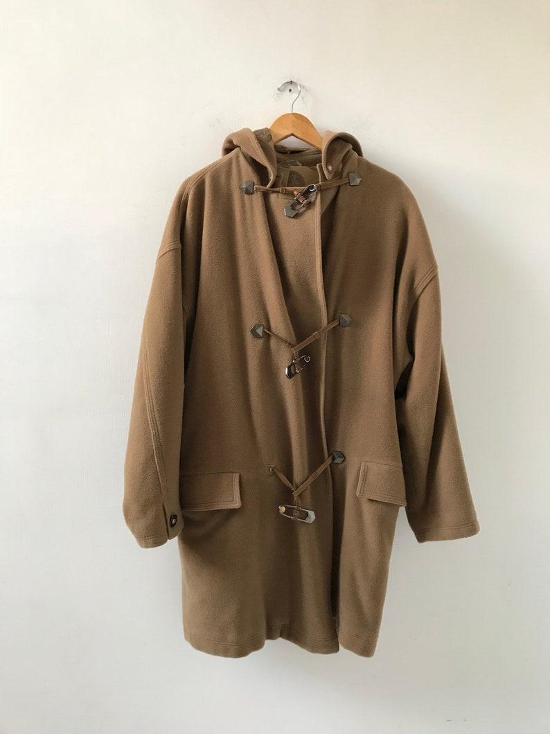 70c198d45527d 90s Versace vintage men coat men montgomery coat brown men