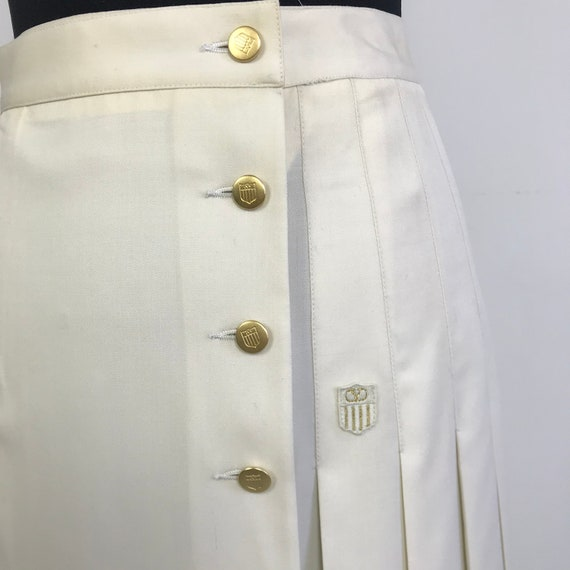 90s vintage Valentino pleated white skirt, wrap s… - image 5