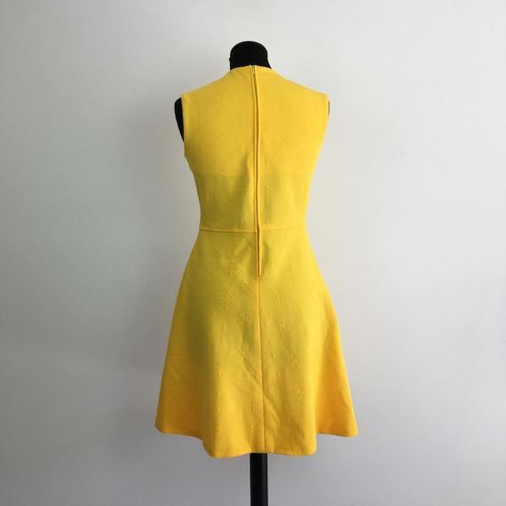 60s vintage yellow dress, 60s mini dress, 1960s m… - image 3