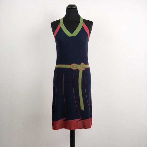 Roberta di Camerino vintage dress, trompe l'oeil d