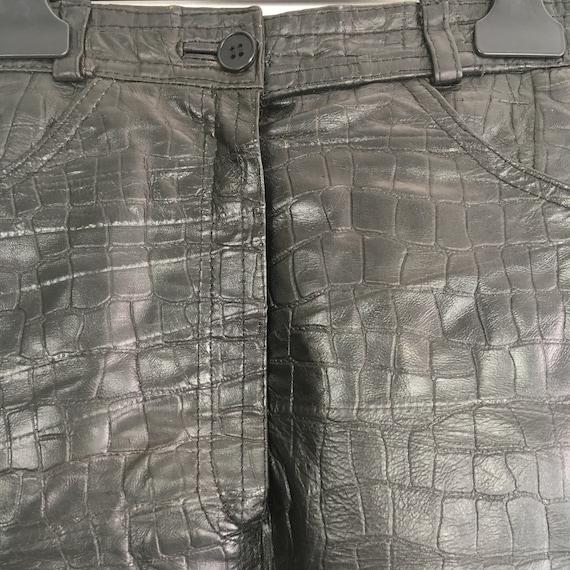 Vintage leather skirt, genuine leather mini skirt… - image 3
