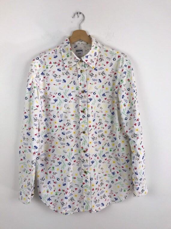90s Moschino vintage women shirt, Moschino all pri