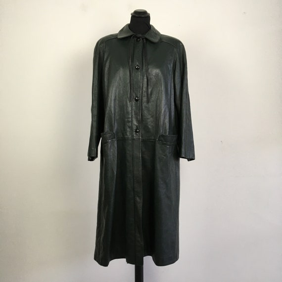 Vintage Valentino leather long coat