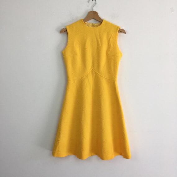 60s vintage yellow dress, 60s mini dress, 1960s m… - image 7