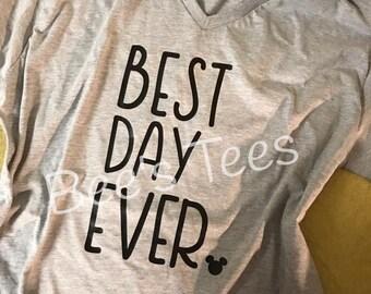 Best Day Ever Tee - Minnie Princess T-shirt - Jasmine Merida Belle Cinderella Tinkerbell Arial Tiana Snow White Magic Kingdom - Epcot