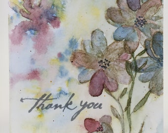 Card 101 - thank you, blank inside A2