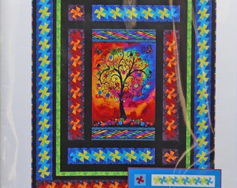 """Panel Twist by Quiet Moments.  Twin size 69"""" x 87.""""  Throw size 48"""" x 66."""""""