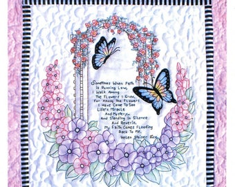 Faith Quilt by Bobbie G. Designs:  quilt pattern with hand embroidery.  This is a wall quilt size.