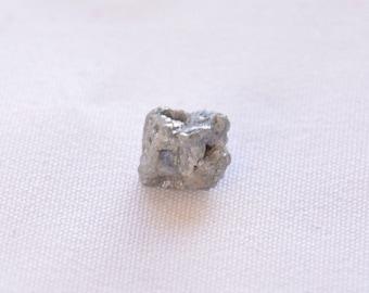 2.45 Carats Natural Grey Diamond, Rough Diamond, Uncut Diamond, Natural Uncut Diamond, Diamond For Jewelry, 6.30x7.40mm