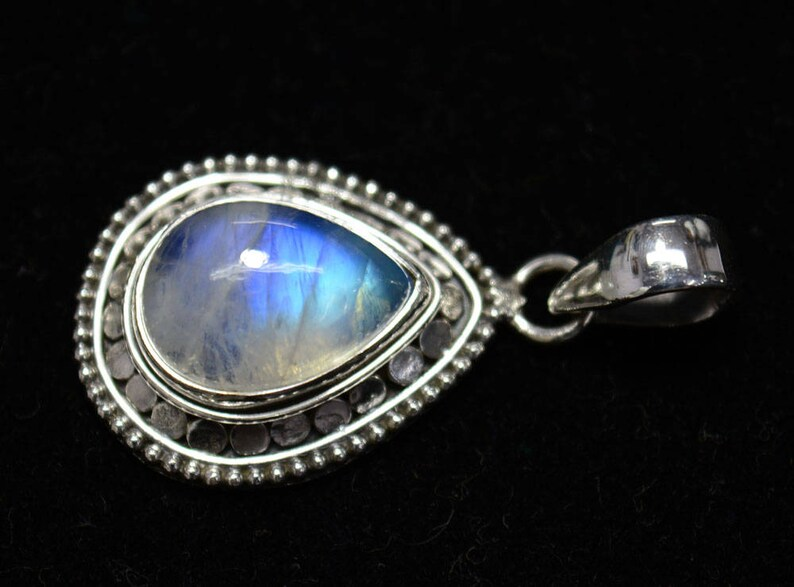 Rainbow Moonstone Gemstone Pendant Gemstone Jewelry Sterling Silver Pendant SKU 928 Silver Pendant Handmade Pendant