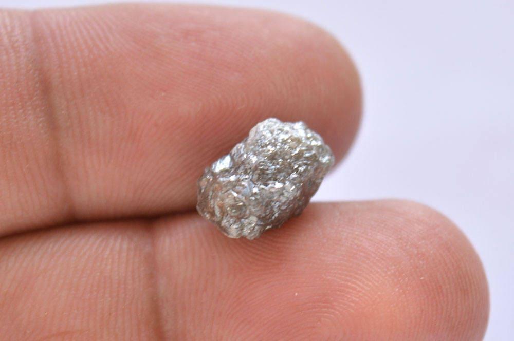 Diamant gris naturel, brut Diamond 4,20 Carats, diamants bruts, bijoux non-coupe diamant, bijoux bruts, en diamant naturel pour 7.60x11.30mm 54e8f7