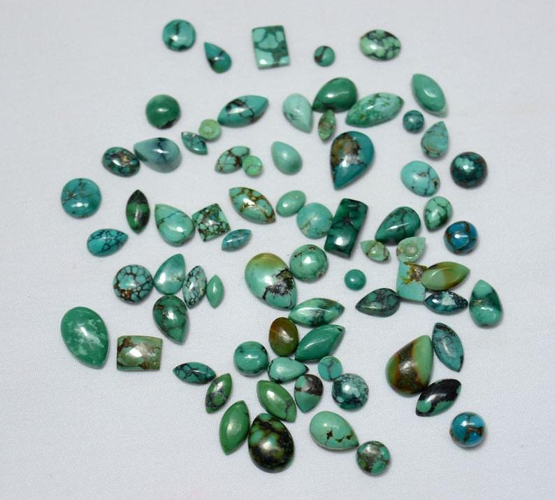 5x7mm To 9x13mm Each Aprrox Tibetan Turquoise Gemstone Stone Mix Shape Cabochons Gemstone 20 Pieces