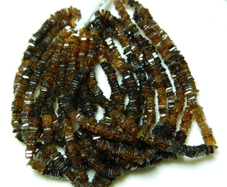 Tourmaline Spacer Beads,Heishi Beads 4mm Petrol Tourmaline Gemstone Heishi Beads 16 Inches Full Strand