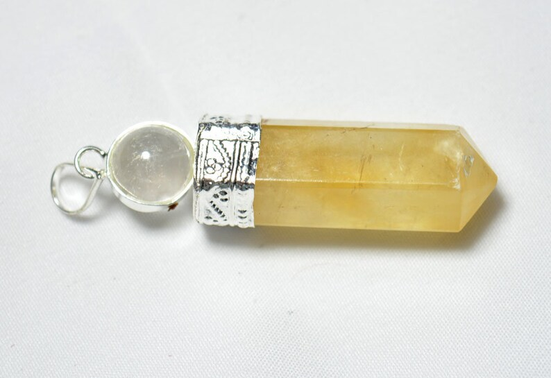 Ball And Pencil Dowsing Pendulum, Yellow Calcite Pendulum Pendant, Healing  Pendulum Necklace, Calcite Pendulum Jewelry