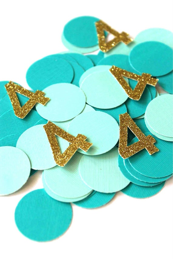 Mermaid Party Decorations Birthday Teal And Gold Four