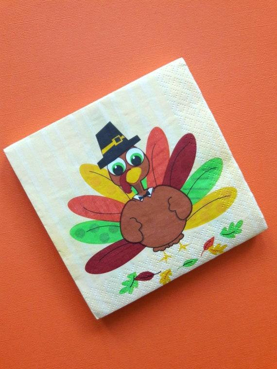 Thanksgiving Napkins Kids Thanksgiving Turkey Napkins Our Little