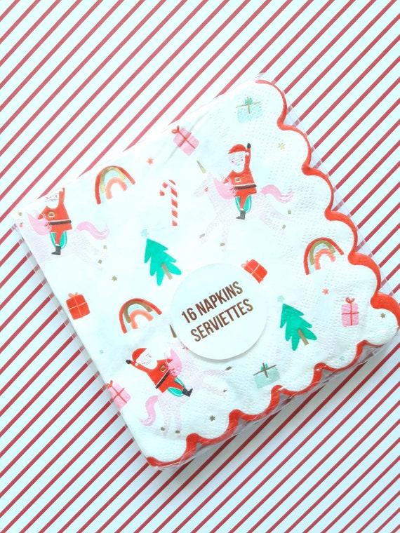 Christmas Napkins.Meri Meri Christmas Napkins Meri Meri Christmas Meri Meri Christmas Unicorn Unicorn Christmas Christmas Decorations Small Napkins