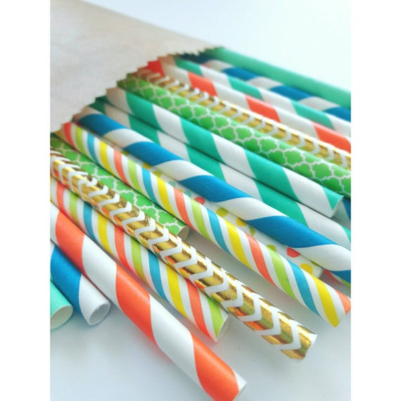 Dinosaur Party Decorations Paper Straws