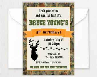Hunting invitation etsy hunting birthday party invitations filmwisefo