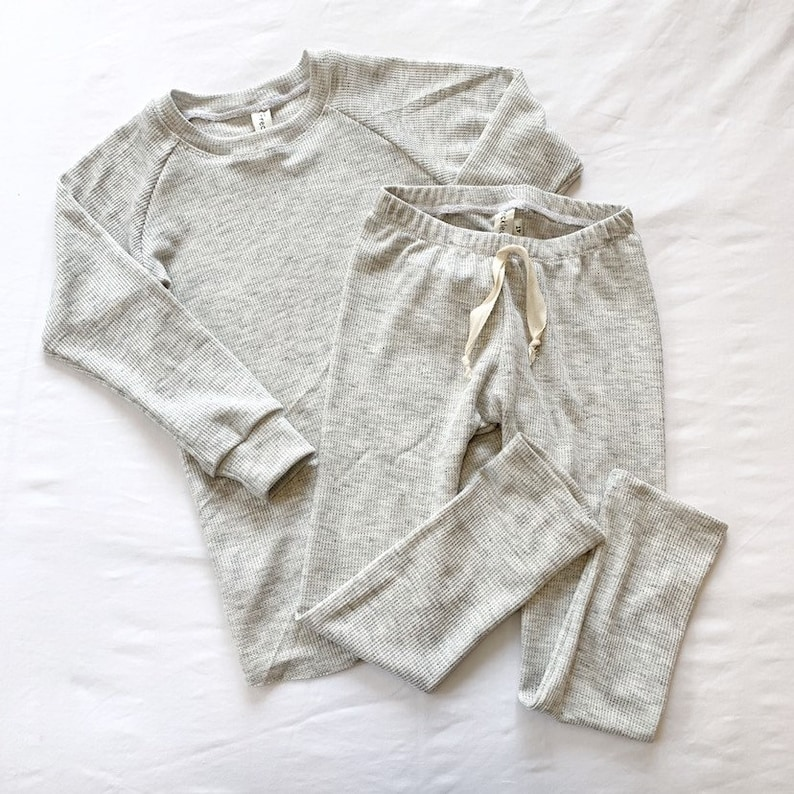 Layette Thermal Lounge Set MULTIPLE COLORS Raglan and image 0