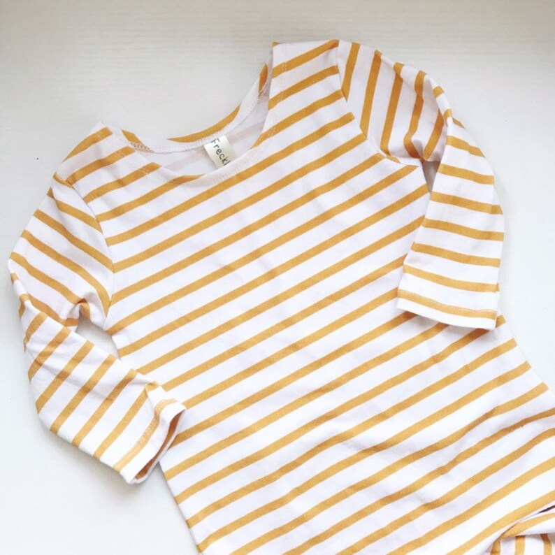 SNAP Full Length Romper MUSTARD STRIPE  Romper with leg image 0