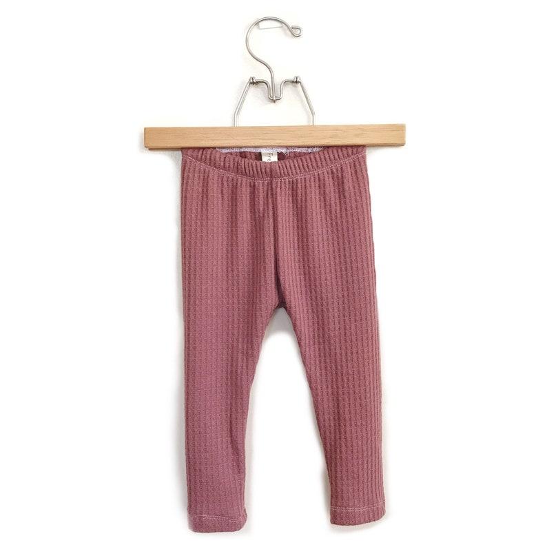 Mauve Thermal Basic Leggings Solid cotton leggings Unisex image 0