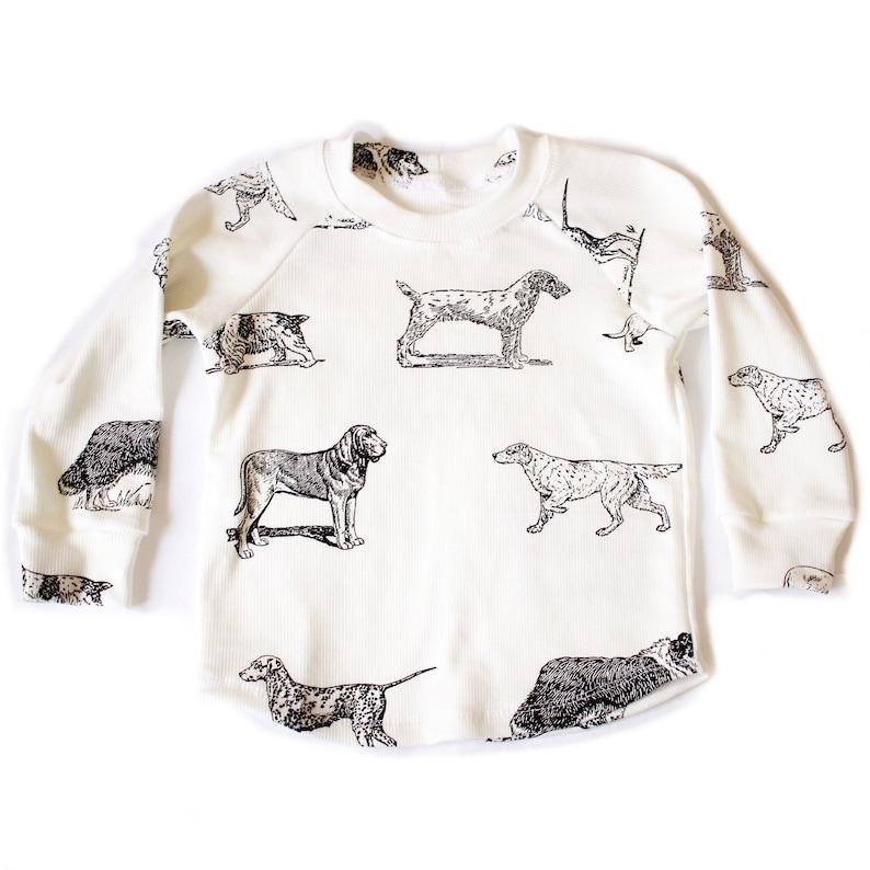 Puppy Dog Rib Knit Raglan Shirt long sleeve lounge shirt image 0