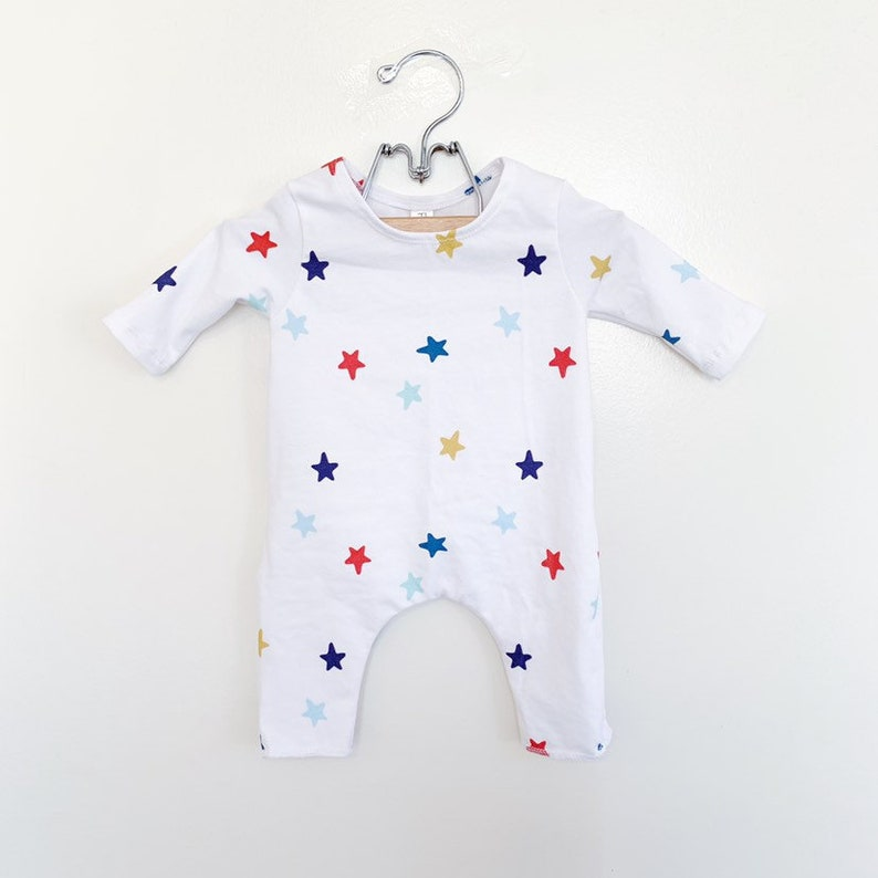 Newborn Colorful Star Romper Long sleeve READY TO SHIP image 0