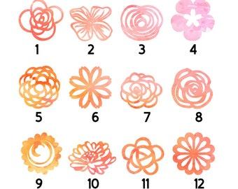 Fridge magnet, Pink orange yellow papercut magnet, Watercolour magnet, Watercolor, Magnet, Set of magnets, Paper cut magnet, refrigerator