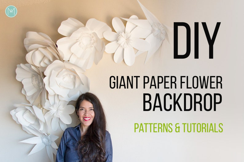 Giant Paper Flowers Patterns Video Tutorials Pdf Svg And Png Files