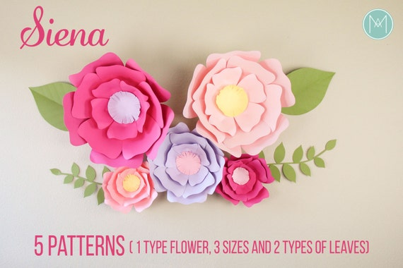 Giant paper flowers siena patterns video etsy giant paper flowers siena patterns video tutorials mightylinksfo