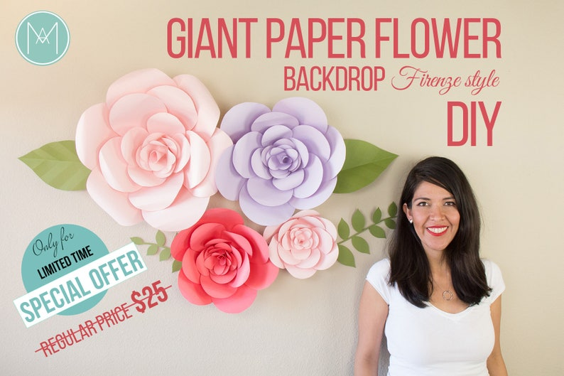 Giant Paper Flower  Firenze Style PATTERNS  VIDEO image 0