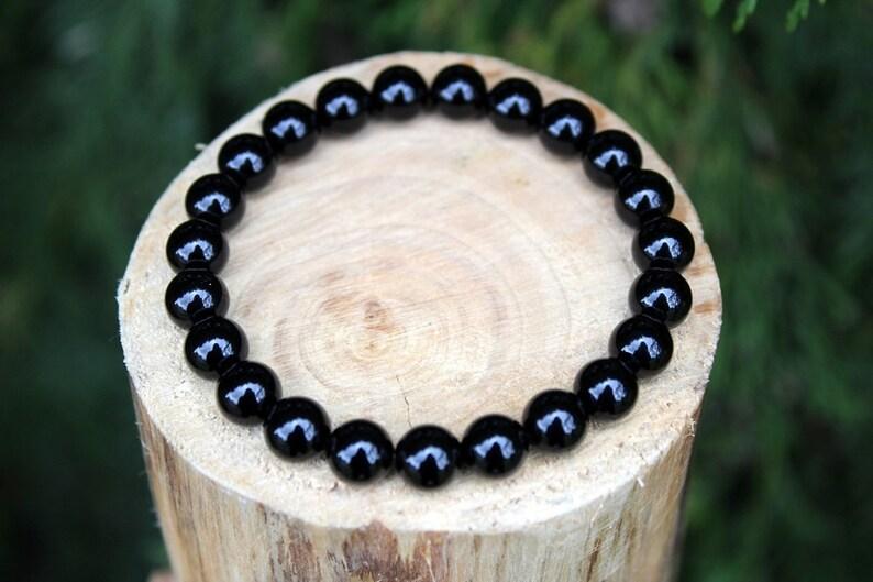 Beaded Bracelet Black Onyx Bracelet Black Bead Bracelet Gemstone Bracelet Onyx Bracelet Yoga Bracelet Men/'sWomen/'s Bracelet