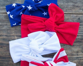 Stars + Stripes Bow Knot Collection (includes 1)