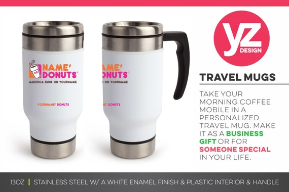 personalized dunkin donuts travel mug birthday gift travel etsy