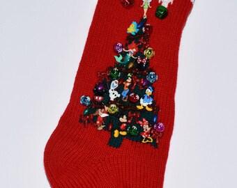 Personalized Disney Knit Christmas Stocking Extra Large