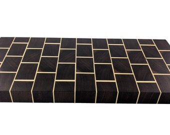Brick Cutting Board - Walnut and Maple