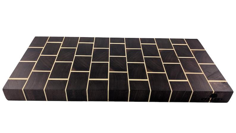Brick Cutting Board  Walnut and Maple image 0
