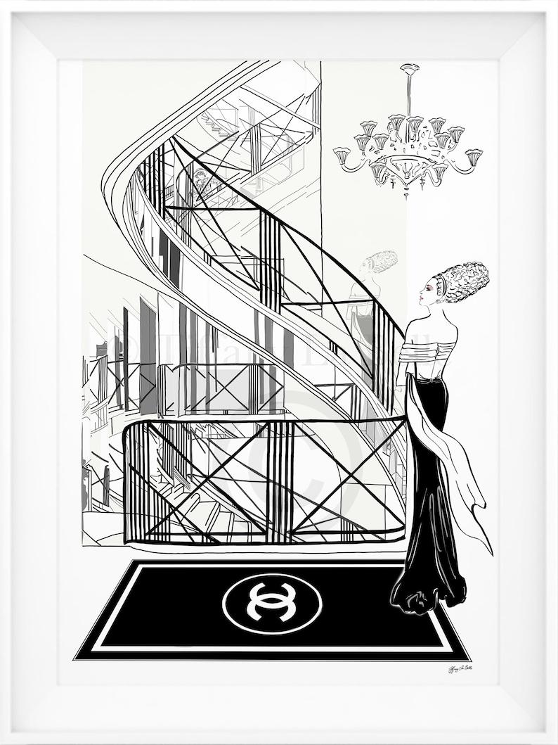 ddc34255f Chanel 31 Rue Cambon Paris Limited Edition Print Coco | Etsy