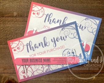 Business Thank You Cards With Custom Nail File Thank You Etsy