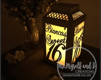 cfe6481f71cf Laser Cut Sweet 16 Decorations / Sweet 16 Girl / 16th Birthday / Sweet 16  Party Supplies / Sweet Sixteen / Table Luminaries / Paper Lanterns
