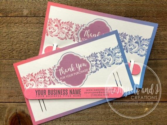 Fashion Retailer Thank You Cards Marketing Kit Promotional Etsy