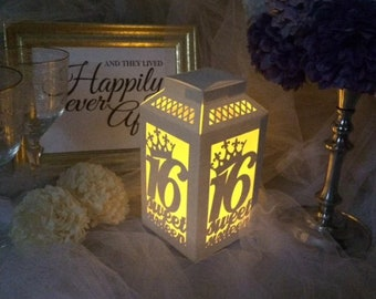 Sweet 16 Decorations, Sweet Sixteen Tables, Sweet Sixteen Decorations, Birthday Centerpiece for Table, Table Decorations for Party, Luminary