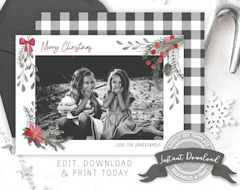 Christmas Photo Card | Printable Photo Christmas Card